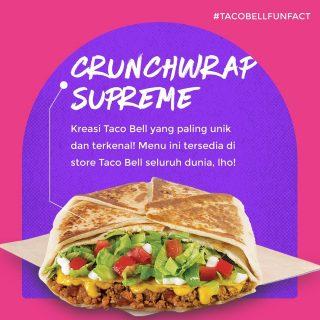 #TacoBellFunFact kali ini membahas tentang dua kreasi menu paling unik dari Taco Bell nih. Di antara kedua menu ini mana yang jadi favorit lo?  #WaktunyaTacoBell #TacoBellindonesia