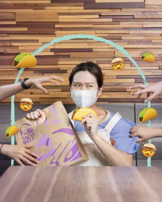 Sori ya guys, I don't share my tacos. 😝 Daripada nyomot taco temen lo, mending buruan komen emoji 🌮 dan tunjukin ke kasir biar bisa nyobain Crunchy Taco lo sendiri!  #NationalTacoDay #WaktunyaTacoBell #tacobellindonesia