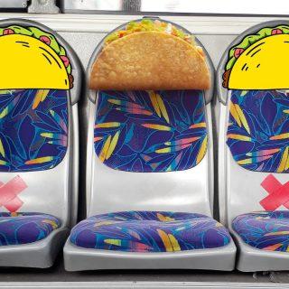 Transjakartaers! Kok kursi di bus TJ ini diliat-liat mirip sama Taco yaaa. 🤔 Kelaperan sama kecapean efeknya beda tipis nih. 🥺  #ISEEATACO, do you?  #WaktunyaTacoBell #TacoBellIndonesia