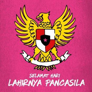 In Pancasila we trust 🇮🇩 Yuk, cintai Pancasila dengan menerapkan kebersamaan, musyawarah, dan persamaan derajat. Happy Pancasila Day!  #WaktunyaTacoBell #TacoBellindonesia