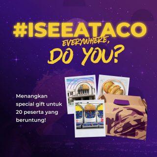 """Cannot unsee the 🌮! Ternyata di sekitar kita ada banyak """"hidden Taco"""". 😱 Psst, we have something for people who show us where they find the Crunchy Taco!  Jangan lupa tag dan ajak bestie lo buat ikutan! Siapa tau bisa menang bareng. 😏✌🏻  #WaktunyaTacoBell #TacoBellindonesia #ISEEATACO"""