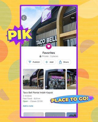 Oke kita spill the tea. Ini dia wishlist tempat paling asik di PIK menurut MinBell. 😝 Kalau Taco Bell PIK jadi wishlist lo juga, sini! 😎  #WaktunyaTacoBell #TacoBellIndonesia