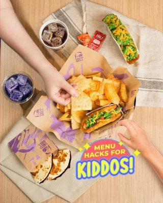 Yang cari menu kids friendly, Naked Chicken Taco + nacho chips dijamin approved! Selain itu, Chocodilla dan Blueberry Freeze yang manis juga cocok untuk anak-anak! 🤗  #WaktunyaTacoBell #TacoBellIndonesia