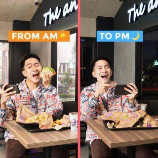 Di Taco Bell, lo bisa banget ngabisin waktu dari AM ke PM! Wifi & charging station ada, makan tinggal order, terus free refill drink pula.  Ga perlu khawatir deh walaupun hustle day to night. 😏  #WaktunyaTacoBell #TacoBellIndonesia