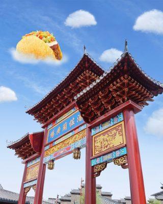 First thing's first, MinBell mau foto-foto ✨ aesthetic ✨ di lokasi hits yang satu ini. Anak gaul Jakut udah familiar banget kan sama tempat ini?  Eh, tunggu tunggu.. Itu kok awannya bentuk taco gitu sih? 🌮 Apa ini efek dari MinBell kelaperan ya?   #ISEEATACO #WaktunyaTacoBell #TacoBellIndonesia