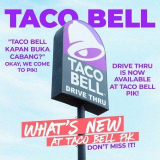 HERE'S WHAT'S NEW: Taco Bell PIK punya layanan drive thru! 😱🎊🎉 Yuk yang kalo ke Taco Bell cari drive thru, merapat~ 😘  #WaktunyaTacoBell #TacoBellIndonesia